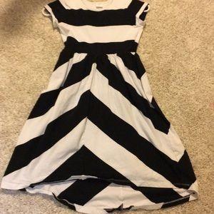 Black and white dress girls